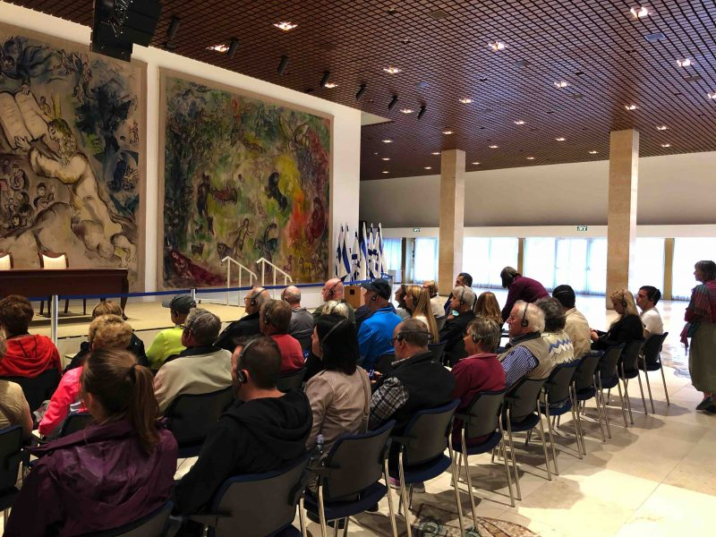 Chagall and group in Knesset